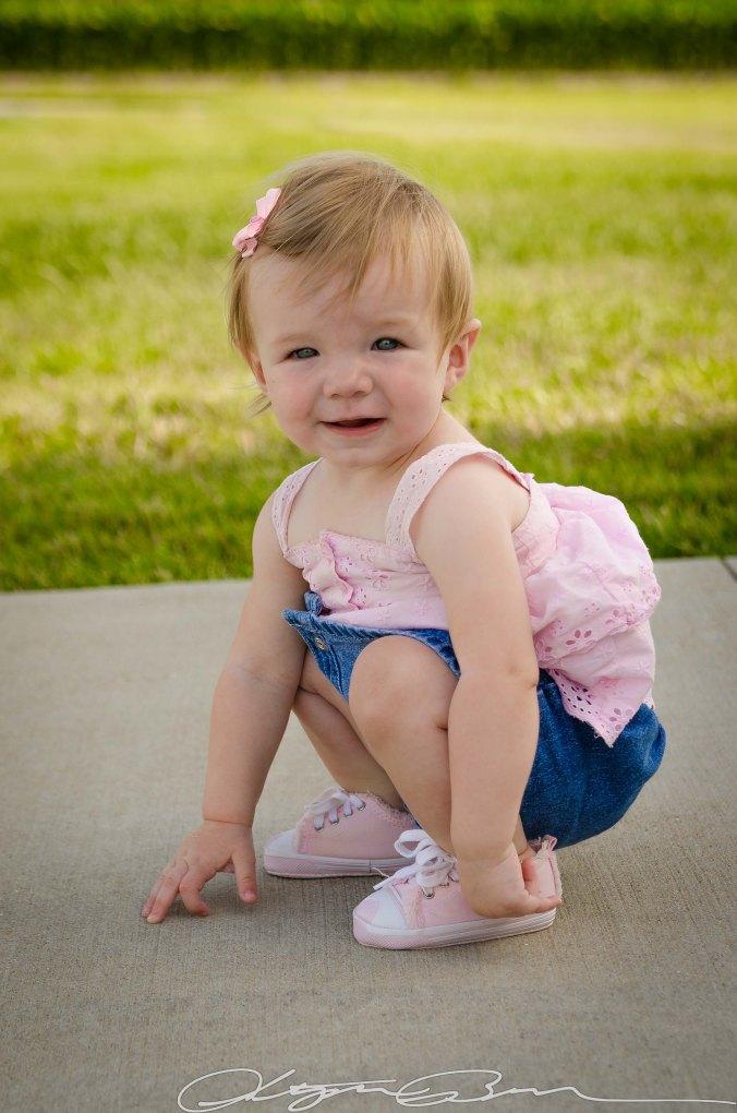 baby crouching